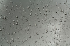Drops of water on the car Stock Photo