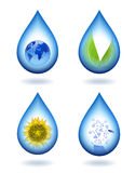 Drops of water content. Royalty Free Stock Image