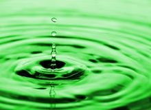 Drops of water flowing royalty free stock images