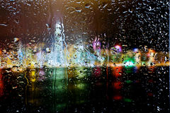 Drops of water on glass Royalty Free Stock Image