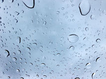 Drops of water on glass, background Stock Photo