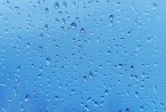 Drops of water on glass Stock Photography
