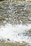 Drops of water in a river Royalty Free Stock Photos
