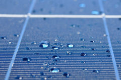 Drops of water on solar panel Stock Image