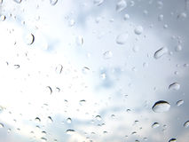 Drops of water on a window pane Stock Image