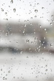 Drops of water on the window Royalty Free Stock Image