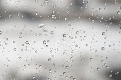 Drops of water on the window Royalty Free Stock Photo