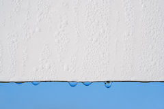 Drops on white and sky Royalty Free Stock Image