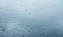 Drops on the window Stock Photo