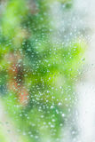 Drops on the window, wet glass Stock Images