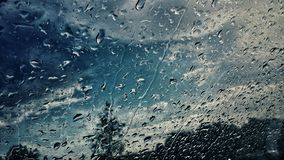Drops on windshield Royalty Free Stock Images