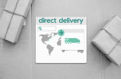 Dropshipping. How its works?. Direckt delivery Royalty Free Stock Image