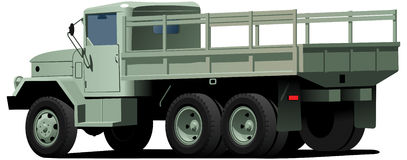 Dropt-side truck Stock Images