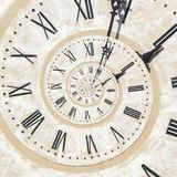 Droste effect of clock Royalty Free Stock Image