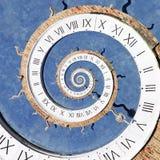 Droste-Effekt der Uhr Stockfotos