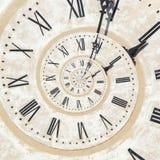 Droste-Effekt der Uhr lizenzfreies stockbild