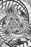 Droste espiral de las escaleras Foto de archivo libre de regalías