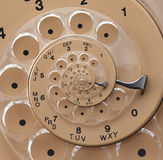 Droste Rotary Dial Spiral. Droste spiral of a rotary phone's dial Stock Photo