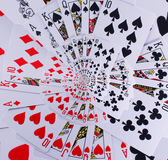Droste Spiral Poker Royal Flush Playing Cards Stock Photos