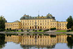 Drottingholm Palace. Facade of Drottningholm Palace, the residence of the Swedish royal family, in Stockholm Royalty Free Stock Photo