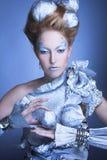 Is-drottning. Arkivfoton