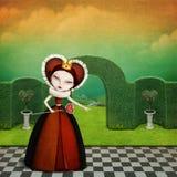 drottning stock illustrationer