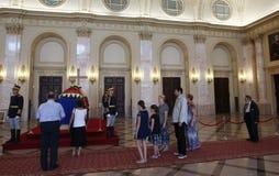 Drottning Anne av Rumänien på Royal Palace i Bucharest Arkivbild