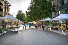 Drottning Anne Farmers Market Seattle, Washington arkivbilder