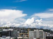 Drottning Anne Hill Overlooking Seattle Royaltyfri Bild