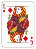 Drottning av diamanter stock illustrationer