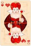 Drottning av hjärtakortet Arkivbild
