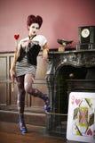 Drottning av hjärtor Fotografering för Bildbyråer