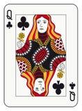 Drottning av klubbor vektor illustrationer