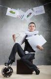 Drottning av kontoret, begrepp Fotografering för Bildbyråer