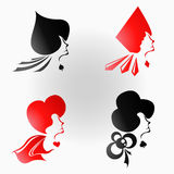 Drottning av kortet Arkivbild