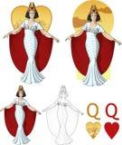 Drottning av uppsättningen för kort för hjärtaaktrismaffia Royaltyfria Foton