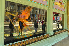 Drottning diamantjubileum - shoppa fönstret Arkivfoto