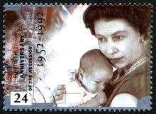 Drottning Elizabeth Accession Anniversary Arkivfoton