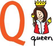 drottning för bokstav q stock illustrationer