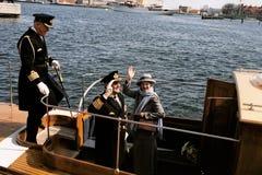 DROTTNING MARGRETHE II OCH PRINS HENRIK AV DANMARK Royaltyfri Foto