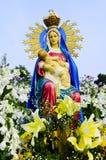 Drottning Mary med barnet Jesus Royaltyfri Fotografi