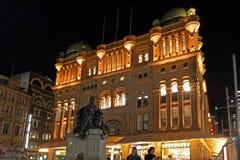 Drottning Victoria Building på natten Sydney New South Wales Austral Arkivbild