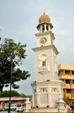 Drottning Victoria Diamond Jubilee Clocktower i Penang royaltyfria bilder