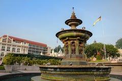 Drottning Victoria Fountain på den Merdeka fyrkanten, Kuala Lumper Malaysia fotografering för bildbyråer