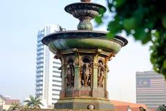 Drottning Victoria Fountain på den Merdeka fyrkanten, Kuala Lumper Malaysia royaltyfri foto