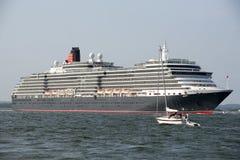 Drottning Victoria som för kryssningskepp är kommande i brittiskt vatten Arkivfoto
