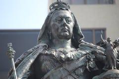 Drottning Victoria Statue Closeup Arkivfoton