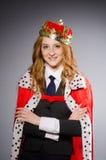 Drottningaffärskvinna Royaltyfri Foto