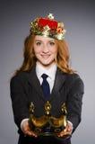 Drottningaffärskvinna Royaltyfri Fotografi