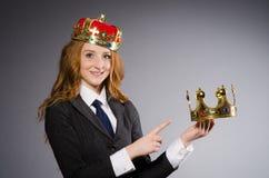 Drottningaffärskvinna Royaltyfria Foton